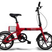 uniquebikes fiat 500 elektrische vouwfiets totaal rood