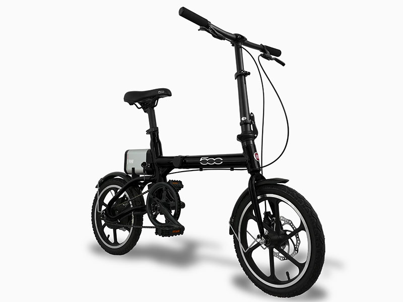 uniquebikes fiat 500 elektrische vouwfiets schuin