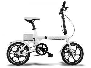uniquebikes fiat 500 totaal wit elektrische vouwfiets