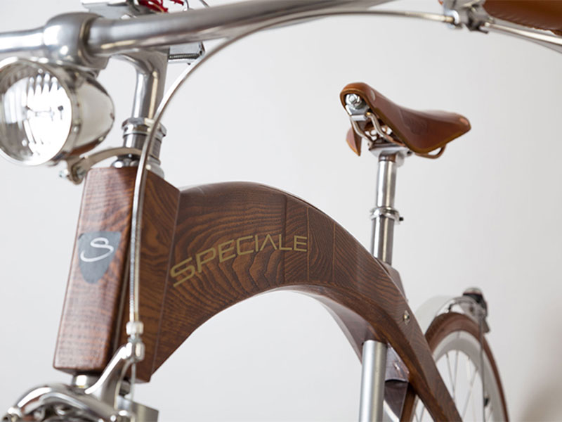 uniquebikes speciale como hout vooraanzicht